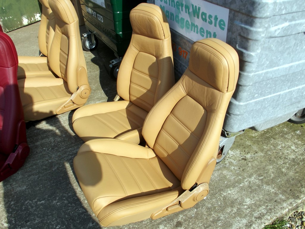 Seats Mazda Mx 5 Pair In New Tan Leather Eunos Roadster V